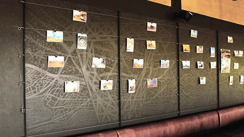 Creative engagement wall by Decotarium